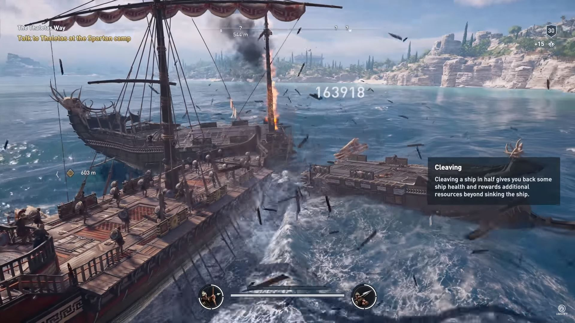 Assassin's Creed Odyssey batallas navales barco