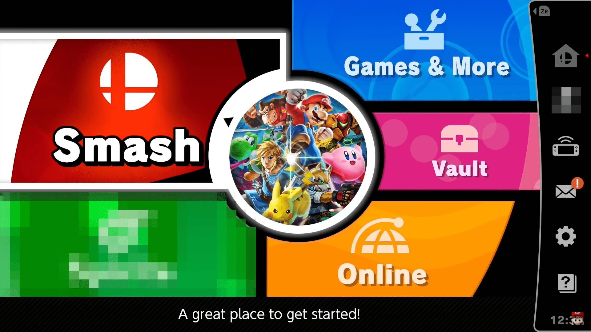 Super Smash Bros ultimate nintendo direct menu