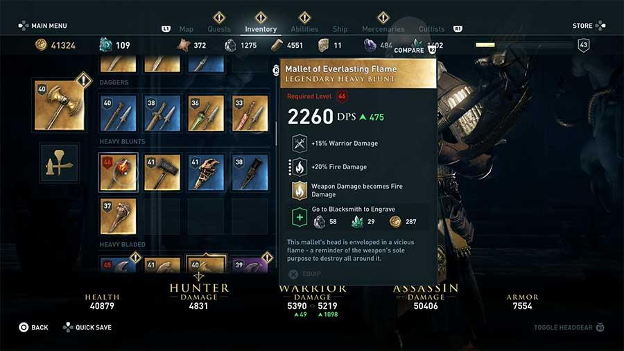 Ubicación armas legendarias de Assassin's Creed Odyssey img 10