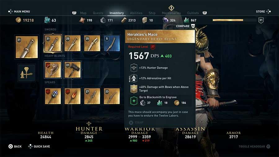 Ubicación armas legendarias de Assassin's Creed Odyssey img 9