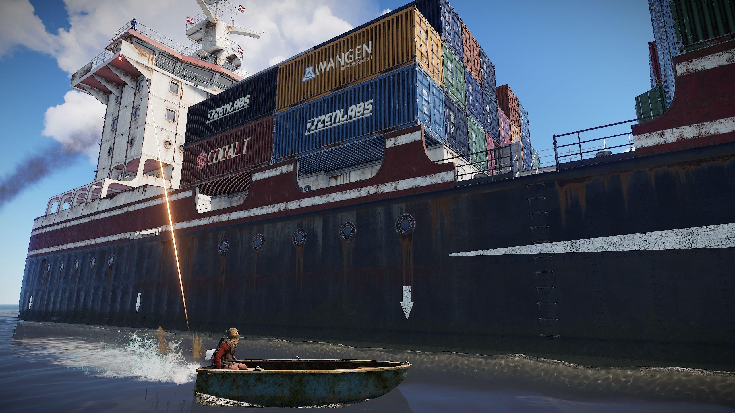 buque de carga en Rust